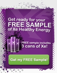 order a free sample of Xe Energy Drink from Xocai
