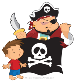 Dallas Kids Book App Review of The Day I Became A Pirate By Cary Snowden