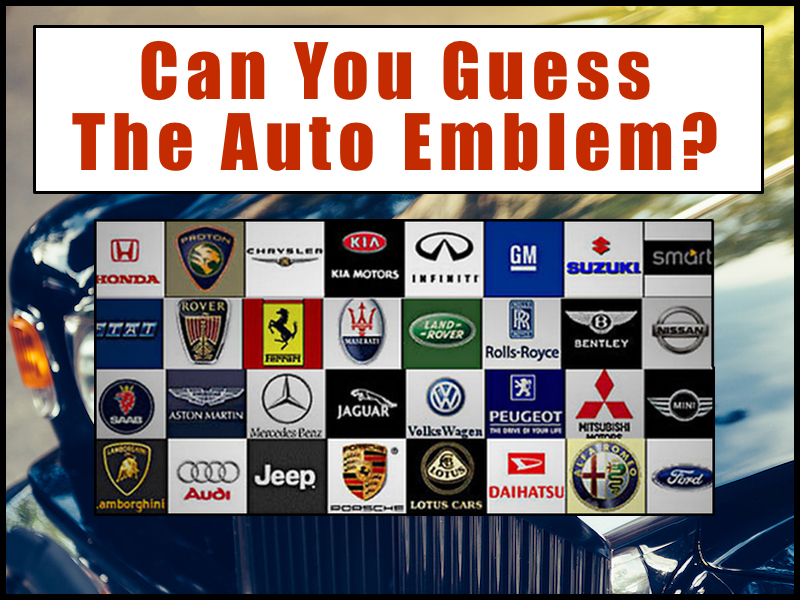 Can You Guess the Auto Emblem?