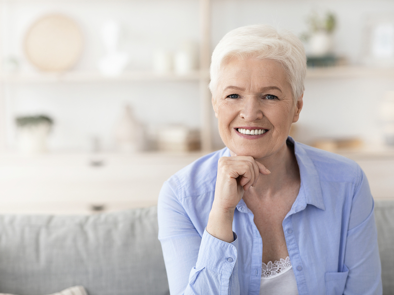 Oceanside dentures secured with implants